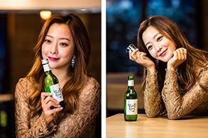 하이트진로, 김희선 광고 촬영 컷 공개