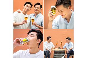 하이트진로, 서서커플 광고 촬영 현장 비하인드 컷 공개