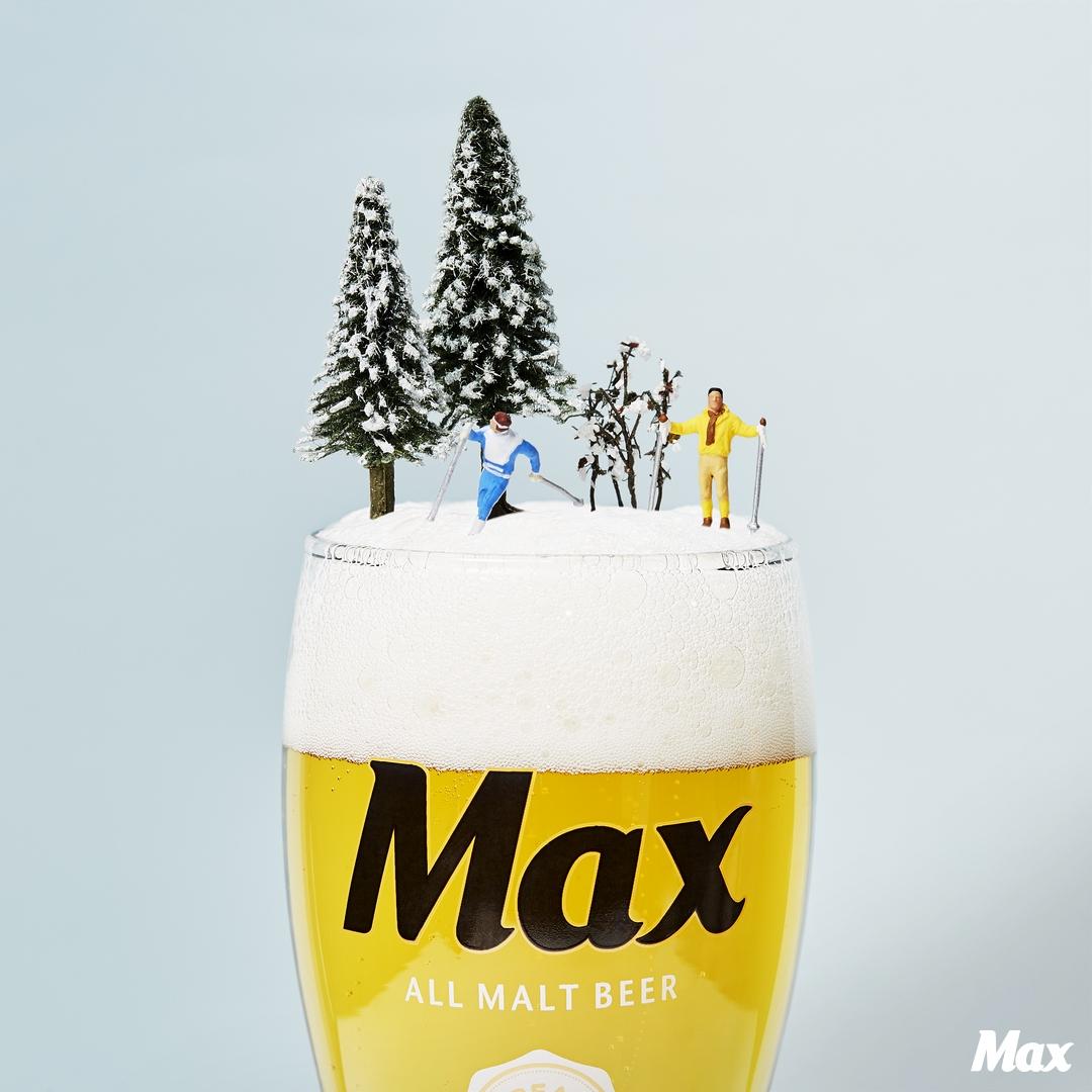 눈처럼 하얗고 시원한  맥스의 풍성한 크림!