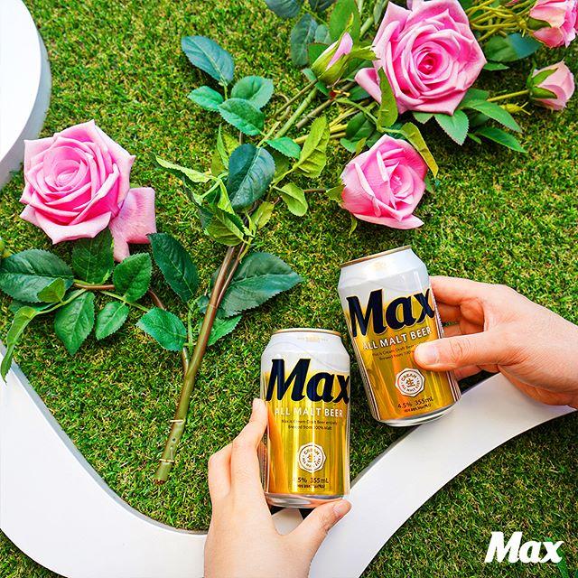 정열 넘치는 장미축제에서 맛잇는 맥주 맥스 마셔봤어?