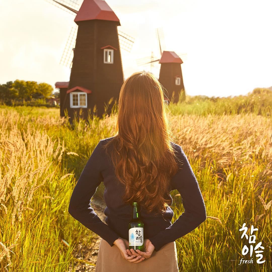 풍차가 돌아가는 그림 같은 풍경 속 갈대밭에서 너는 가을꽃이 되었어
