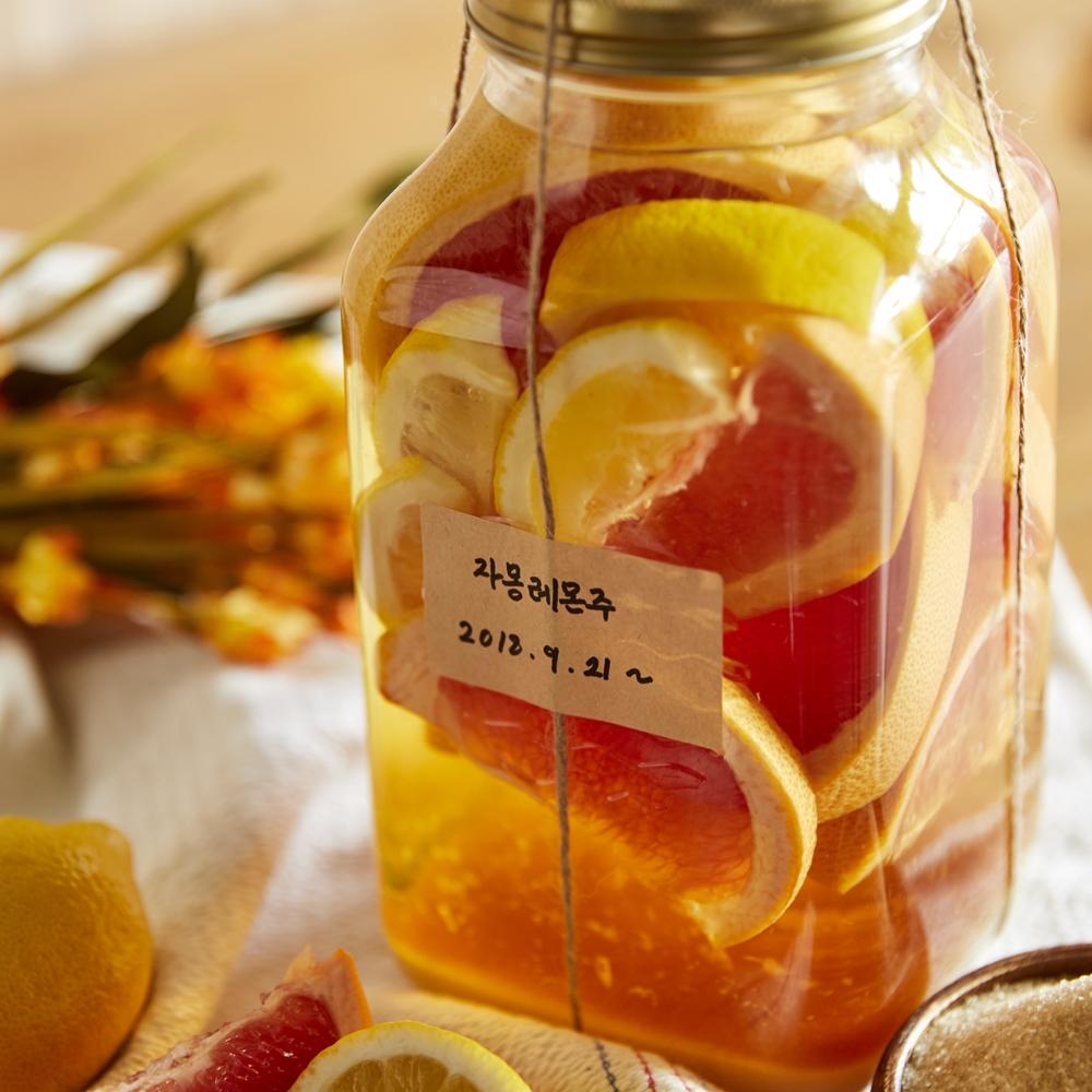 온 가족 추석 선물로 딱! 복숭아, 자몽&레몬, 야관문 담금주 만들기