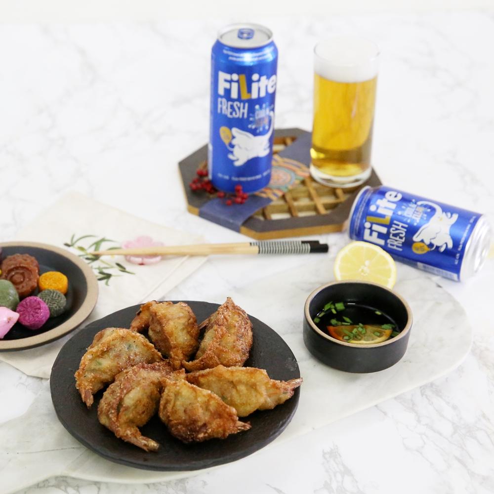 추석 남은 음식의 후레쉬한 변신! 동그랑땡으로 만드는 새우 튀김 만두!