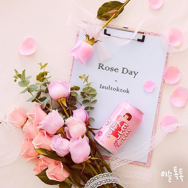 행복한 사랑이 꽃말이라는 로맨틱한 분홍장미💖